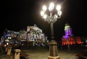 Ежегодный фестиваль света и иллюминации в Берлине.