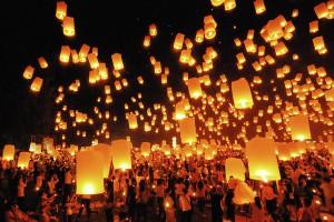 Фестиваль фейерверков в Тайланде