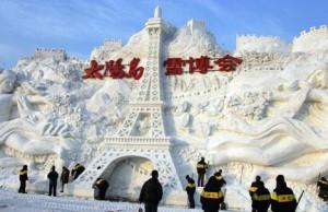 Традиционный фестиваль ледовых скульптур начался в Китае