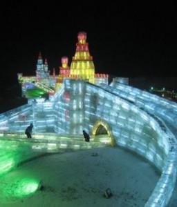 Фестиваль ледовых скульптур в Иерусалиме