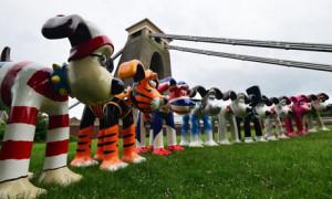 В Бристоле появились статуи мультипликационных персонажей